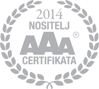 Obrt za prijevoz i poljoprivredu JAMBREK vl. Mladen Jambrek, Seget Donji, Škrape 1  je dobitnik AAA certifikata.